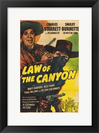 Framed Law of the Canyon Print
