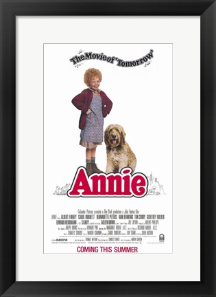 Framed Annie Movie of Tomorrow Print