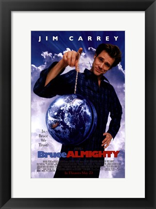 Framed Bruce Almighty Print