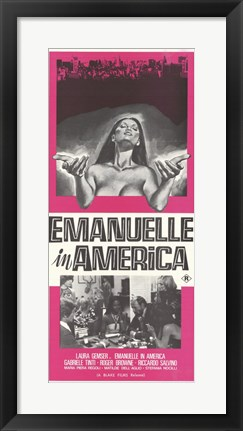 Framed Emmanuelle in America, c.1979 - style A Print