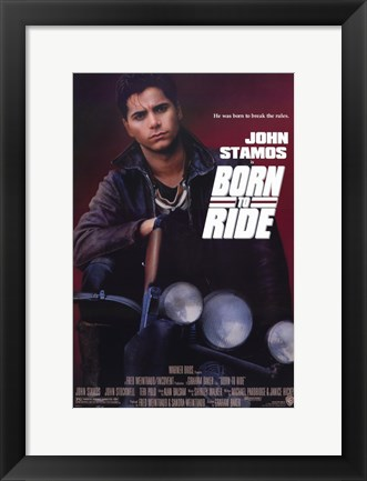 Framed Born to Ride Print