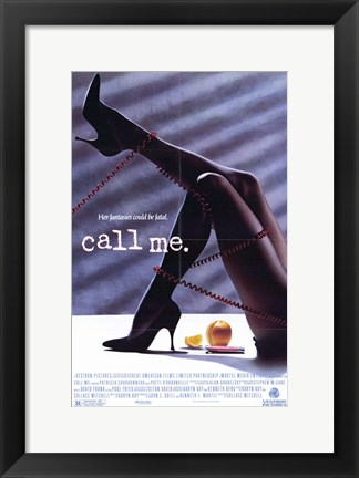Framed Call Me Print