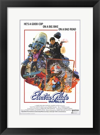 Framed Electra Glide in Blue Print