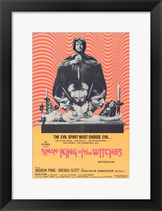 Framed Simon King of the Witches Print