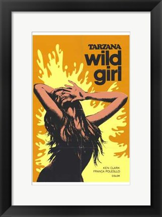 Framed Tarzana the Wild Girl, c.1969 Print