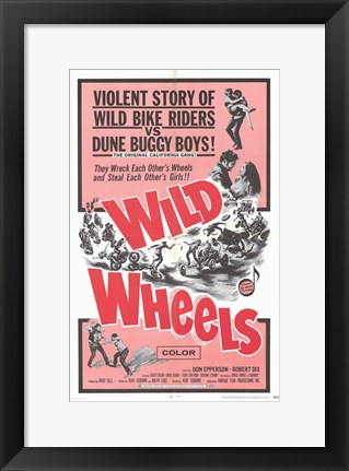Framed Wild Wheels Print