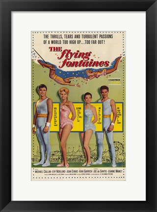 Framed Flying Fontaines Print