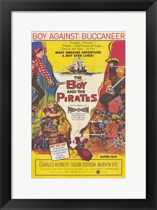 Framed Boy and the Pirates Print