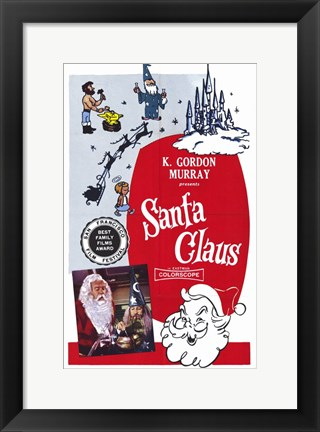 Framed Santa Claus - K. Gordon Print