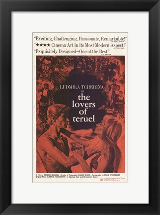 Framed Lovers of Teruel Print