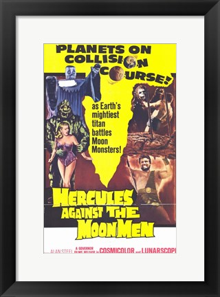 Framed Hercules Against the Moon Men Print