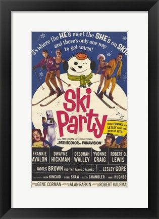 Framed Ski Party Print