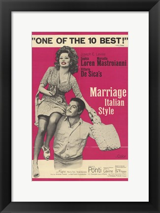 Framed Marriage Italian Style Print