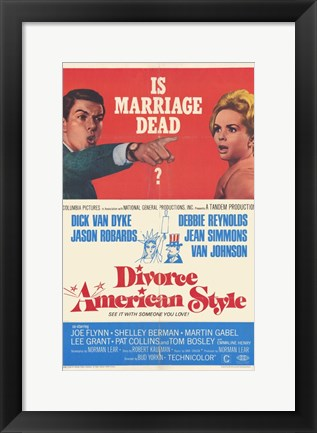 Framed Divorce American Style Print