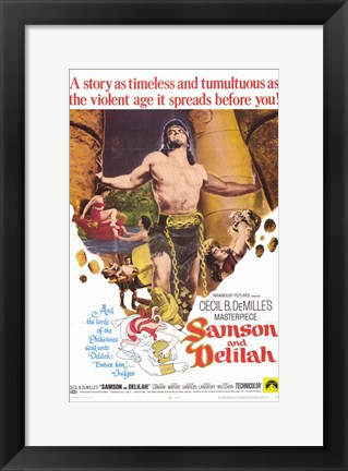 Framed Samson and Delilah Print