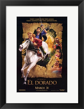 Framed Road to El Dorado Print