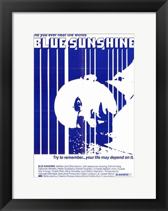 Framed Blue Sunshine Print