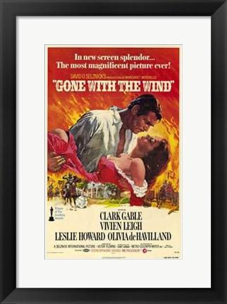 Framed Gone with the Wind - In new screen splendor... Print