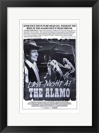 Framed Last Night At the Alamo Print