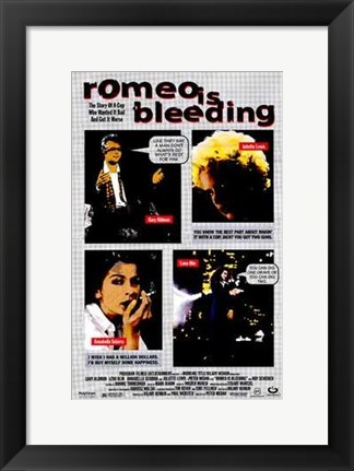 Framed Romeo is Bleeding Print