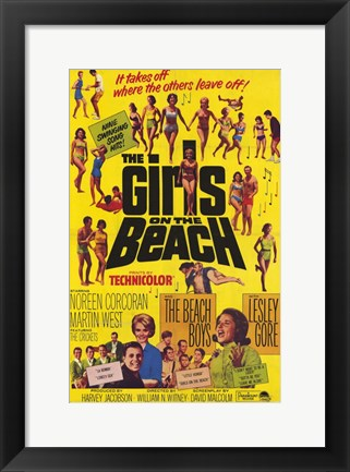 Framed Girls on the Beach Print