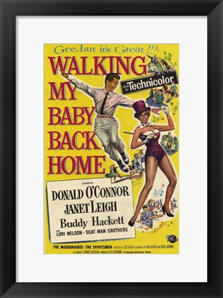 Framed Walking My Baby Back Home Print