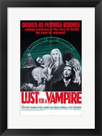 Framed Lust for a Vampire Print