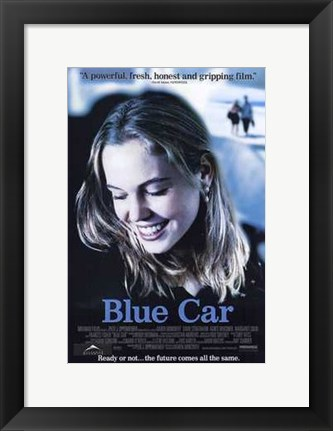 Framed Blue Car Print