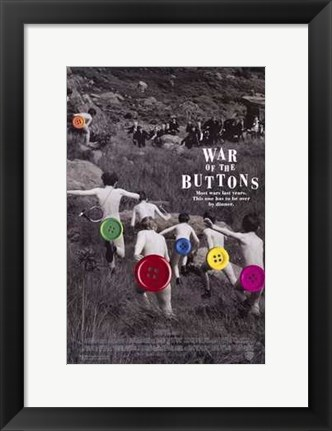 Framed War of the Buttons Print
