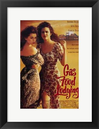 Framed Gas Food Lodging Print