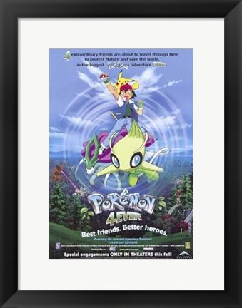 Framed Pokemon 4Ever Print