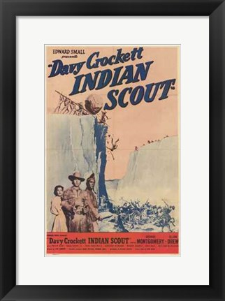 Framed Davy Crockett  Indian Scout Print