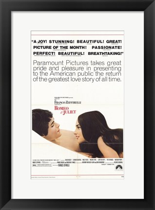 Framed Romeo and Juliet Paramount Pictures Print