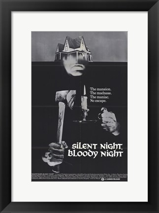 Framed Silent Night Bloody Night Print