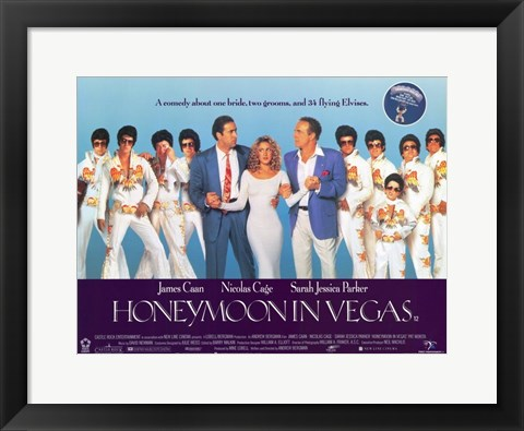 Framed Honeymoon in Vegas Print