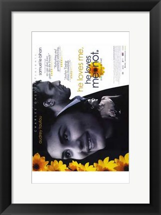 Framed He Loves Me  He Loves Me Not Print