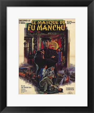 Framed Mask of Fu Manchu Print