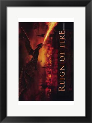 Framed Reign of Fire Movie Print