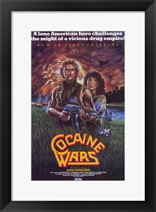 Framed Cocaine Wars Print