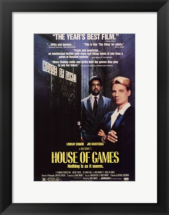 Framed House of Games Print