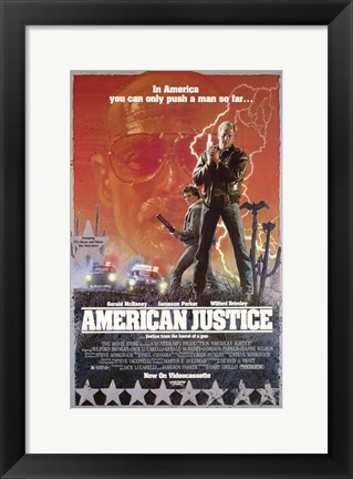 Framed American Justice Print