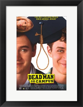 Framed Dead Man on Campus Print