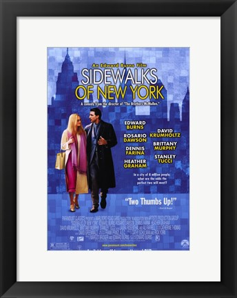 Framed Sidewalks of New York Movie Print