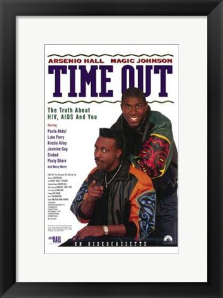 Framed Time Out: the Truth About Hiv  Aids Print