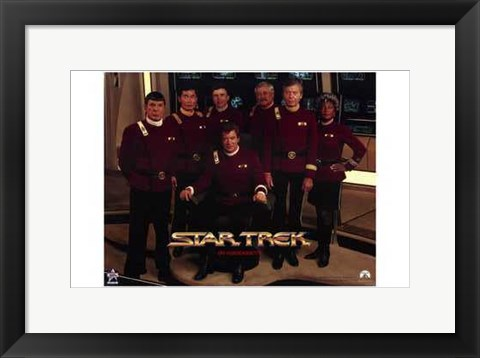 Framed Star Trek Movie Series Print