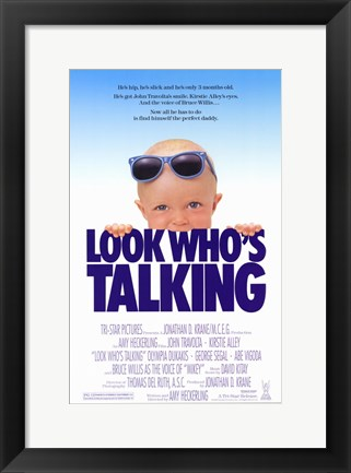 Framed Look Who's Talking Print