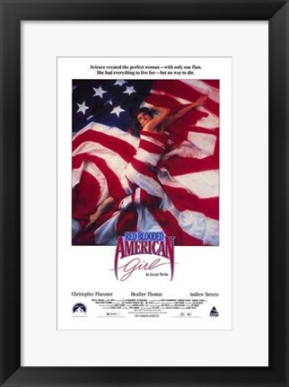 Framed Red Blooded American Girl Print