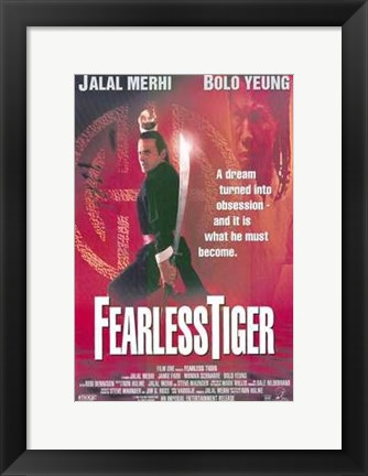 Framed Fearless Tiger Print