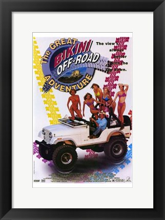 Framed Great Bikini Off-Road Adventure Print
