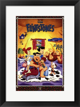 Framed Flintstones (Tv) Print